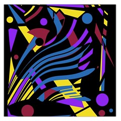 Optimistic abstraction Large Satin Scarf (Square)