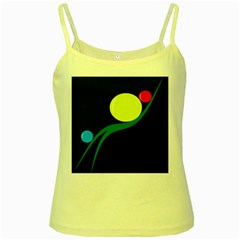 Falling  ball Yellow Spaghetti Tank