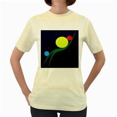Falling  ball Women s Yellow T-Shirt
