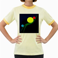 Falling  ball Women s Fitted Ringer T-Shirts