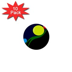 Falling  ball 1  Mini Buttons (10 pack)