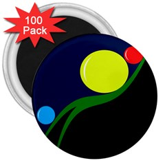 Falling  ball 3  Magnets (100 pack)