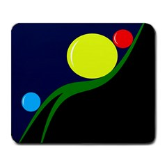 Falling  ball Large Mousepads