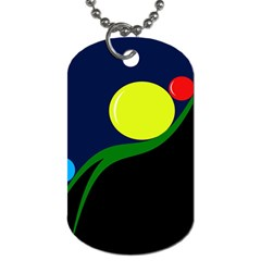 Falling  ball Dog Tag (One Side)