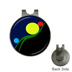 Falling  ball Hat Clips with Golf Markers