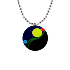 Falling  ball Button Necklaces