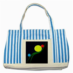 Falling  ball Striped Blue Tote Bag