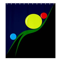 Falling  ball Shower Curtain 66  x 72  (Large)