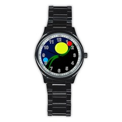Falling  ball Stainless Steel Round Watch