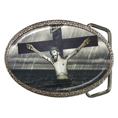 Jesus On The Cross At The Sea Belt Buckles