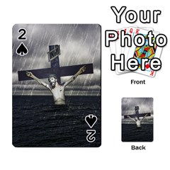 Jesus On The Cross At The Sea Playing Cards 54 Designs