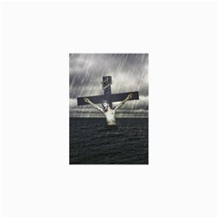 Jesus On The Cross At The Sea Collage Prints