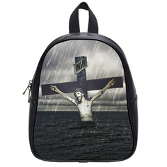 Jesus On The Cross At The Sea School Bags (small)