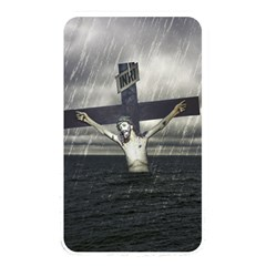 Jesus On The Cross At The Sea Memory Card Reader