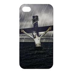 Jesus On The Cross At The Sea Apple iPhone 4/4S Premium Hardshell Case