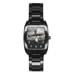 Jesus On The Cross At The Sea Stainless Steel Barrel Watch