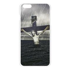 Jesus On The Cross At The Sea Apple Seamless iPhone 6 Plus/6S Plus Case (Transparent)
