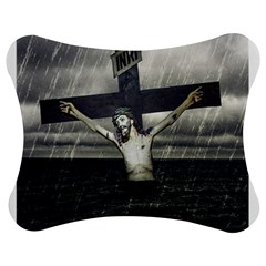 Jesus On The Cross At The Sea Jigsaw Puzzle Photo Stand (Bow)