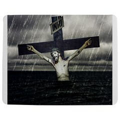 Jesus On The Cross At The Sea Jigsaw Puzzle Photo Stand (Rectangular)