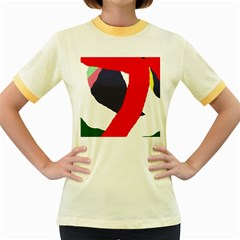 Beautiful abstraction Women s Fitted Ringer T-Shirts