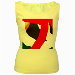 Beautiful abstraction Women s Yellow Tank Top