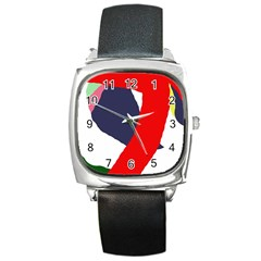 Beautiful abstraction Square Metal Watch