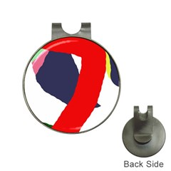 Beautiful abstraction Hat Clips with Golf Markers