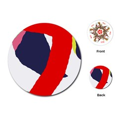 Beautiful abstraction Playing Cards (Round)