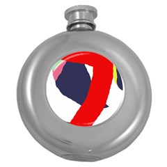 Beautiful abstraction Round Hip Flask (5 oz)