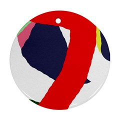Beautiful abstraction Round Ornament (Two Sides)