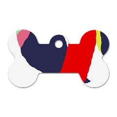 Beautiful abstraction Dog Tag Bone (One Side)