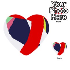 Beautiful abstraction Multi-purpose Cards (Heart)