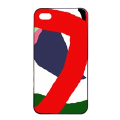 Beautiful abstraction Apple iPhone 4/4s Seamless Case (Black)