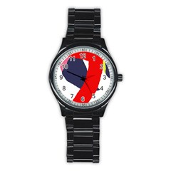 Beautiful abstraction Stainless Steel Round Watch