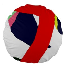 Beautiful abstraction Large 18  Premium Flano Round Cushions