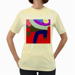 Crazy abstraction Women s Yellow T-Shirt