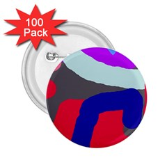 Crazy abstraction 2.25  Buttons (100 pack)