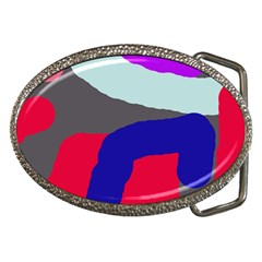 Crazy abstraction Belt Buckles