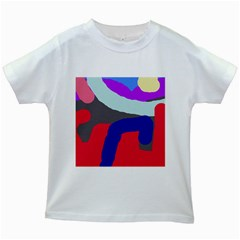 Crazy abstraction Kids White T-Shirts