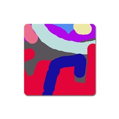 Crazy abstraction Square Magnet