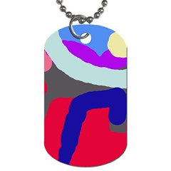 Crazy abstraction Dog Tag (Two Sides)
