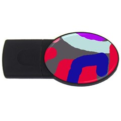 Crazy abstraction USB Flash Drive Oval (4 GB)