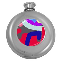 Crazy abstraction Round Hip Flask (5 oz)