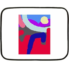 Crazy abstraction Double Sided Fleece Blanket (Mini)