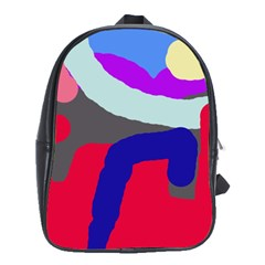 Crazy abstraction School Bags(Large)