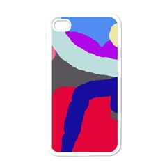 Crazy abstraction Apple iPhone 4 Case (White)