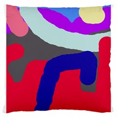 Crazy abstraction Large Cushion Case (One Side)