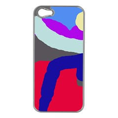 Crazy abstraction Apple iPhone 5 Case (Silver)