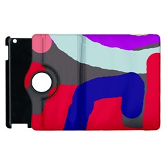 Crazy abstraction Apple iPad 3/4 Flip 360 Case