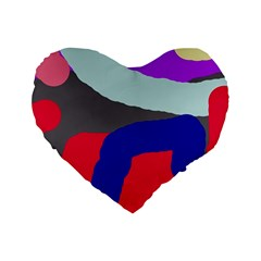 Crazy abstraction Standard 16  Premium Heart Shape Cushions